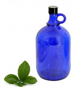 niebieska butelka